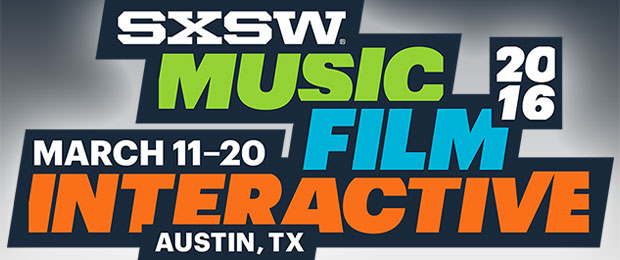 Text-only logo for South by Southwest Interactive 2016
